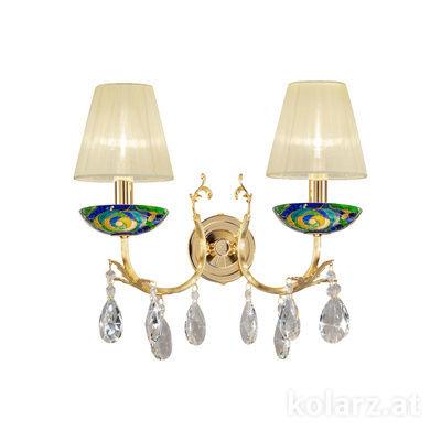 3003.62.3.KoT/aq70 24 Carat Gold, Width 35cm, Height 20cm, 2 lights, E14
