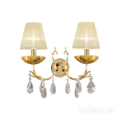 3003.62.3.KoT/ki30 24 Carat Gold, Width 35cm, Height 20cm, 2 lights, E14