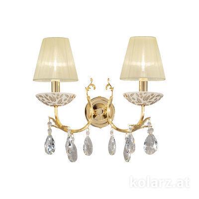 3003.62.3.KoT/li10 24 Carat Gold, Width 35cm, Height 20cm, 2 lights, E14