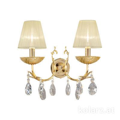 3003.62.3.KoT/tc10 24 Carat Gold, Width 35cm, Height 20cm, 2 lights, E14