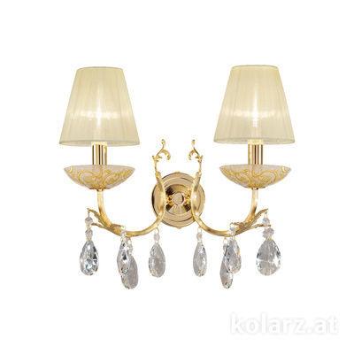 3003.62.3.KoT/tc30 24 Carat Gold, Width 35cm, Height 20cm, 2 lights, E14