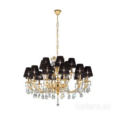 3003.812+6.3.KoT 24 Carat Gold, Ø100cm, Height 60cm, Min. height 80cm, Max. height 120cm, 18 lights, E14