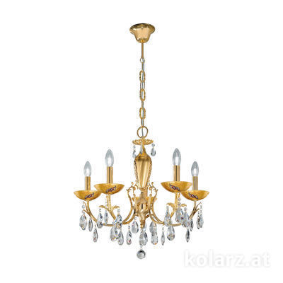3003.85.3.KoT/ki30 24 Carat Gold, Ø60cm, Height 55cm, Min. height 75cm, Max. height 105cm, 5 lights, E14