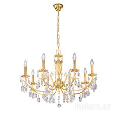 3003.88.3.KoT 24 Carat Gold, Ø80cm, Height 55cm, Min. height 75cm, Max. height 105cm, 8 lights, E14