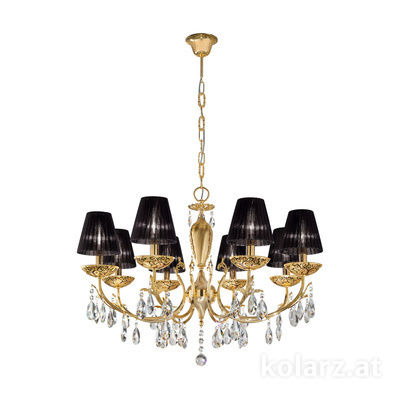 3003.88.3.KoT/al99 24 Karat Gold, Ø80cm, Höhe 55cm, Min. Höhe 75cm, Max. Höhe 105cm, 8-flammig, E14