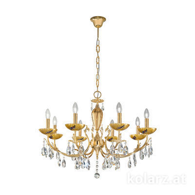 3003.88.3.KoT/ki30 24 Carat Gold, Ø80cm, Height 55cm, Min. height 75cm, Max. height 105cm, 8 lights, E14