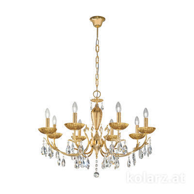3003.88.3.KoT/li30 24 Carat Gold, Ø80cm, Height 55cm, Min. height 75cm, Max. height 105cm, 8 lights, E14