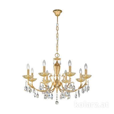 3003.88.3.KoT/tc30 24 Carat Gold, Ø80cm, Height 55cm, Min. height 75cm, Max. height 105cm, 8 lights, E14