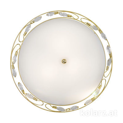 309.13.7 24 Carat Gold, White, Ø50cm, Height 15cm, 3 lights, E27