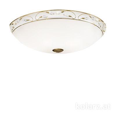 309.16.7 24 Carat Gold, White, Ø100cm, Height 20cm, 6 lights, E27