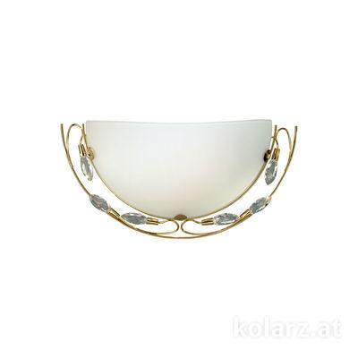 309.61.7 24 Karat Gold, Weiss, Breite 41cm, Höhe 21cm, 1-flammig, E27