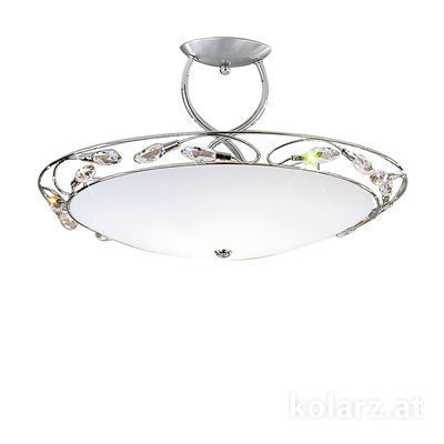 309.83.5 Chrome, White, Ø50cm, Height 28cm, 1 light, R7s 78mm