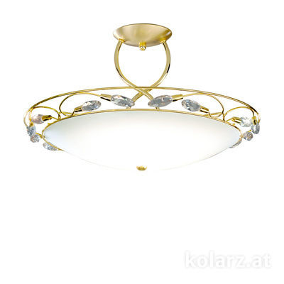 309.83.7 24 Carat Gold, White, Ø50cm, Height 28cm, 1 light, R7s 78mm