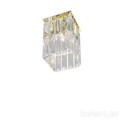 314.11M.3 24 Carat Gold, Length 12cm, Width 12cm, Height 20cm, 1 light, G9