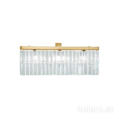 314.63.3 24 Karat Gold, Breite 50cm, Höhe 22cm, 3-flammig, G9