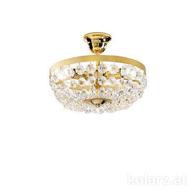 3149.13K.3.KoT 24 Carat Gold, Ø30cm, Height 24cm, 3 lights, E14