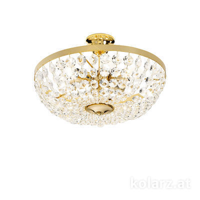 3149.16K.3.KoT 24 Carat Gold, Ø40cm, Height 25cm, 6 lights, E14