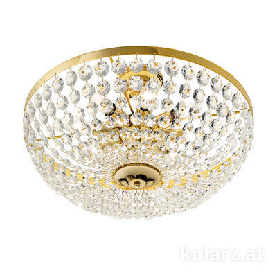 3149.18K.3.KoT 24 Carat Gold, Ø50cm, Height 26cm, 8 lights, E14