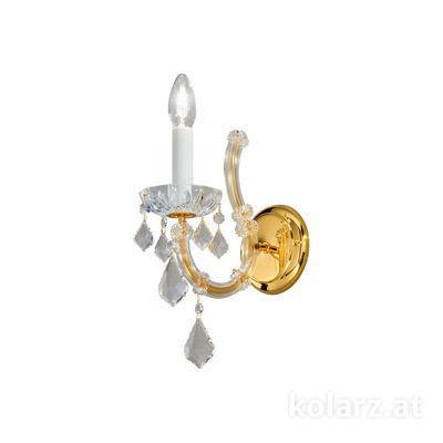 3149.61.3.KoT 24 Carat Gold, Width 12cm, Height 30cm, 1 light, E14