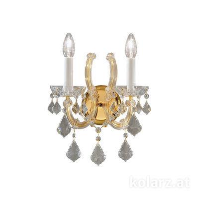 3149.62.3.KoT 24 Carat Gold, Width 30cm, Height 32cm, 2 lights, E14