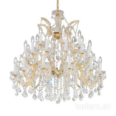 3149.812+12+6.3.KoT 24 Carat Gold, Ø95cm, Height 96cm, Min. height 116cm, Max. height 161cm, 30 lights, E14