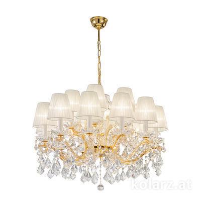 3149.812+6.3.KoT 24 Carat Gold, Ø74cm, Height 54cm, Min. height 74cm, Max. height 121cm, 18 lights, E14