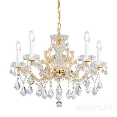 3149.85.3.KoT 24 Carat Gold, Ø66cm, Height 46cm, Min. height 66cm, Max. height 111cm, 5 lights, E14
