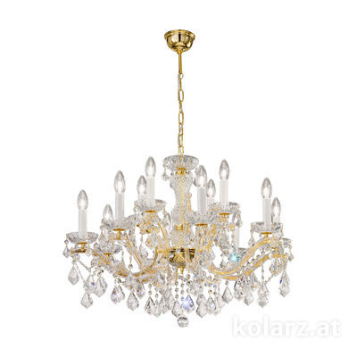 3149.88+4.3.KoT 24 Carat Gold, Ø76cm, Height 56cm, Min. height 76cm, Max. height 121cm, 12 lights, E14