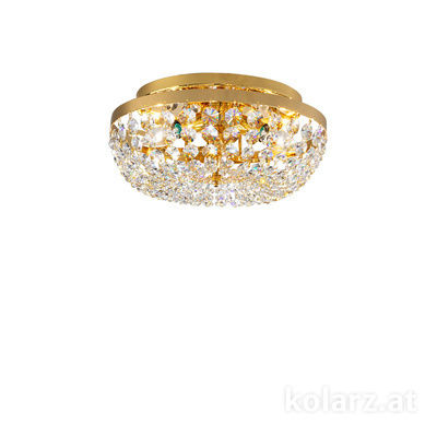 3161.13/33 24 Carat Gold, Ø33cm, Height 15cm, 3 lights, E14