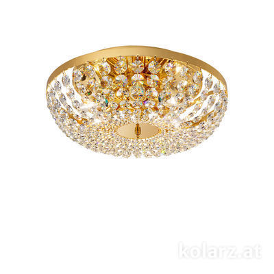 3161.16/40 24 Carat Gold, Ø40cm, Height 15cm, 6 lights, E14