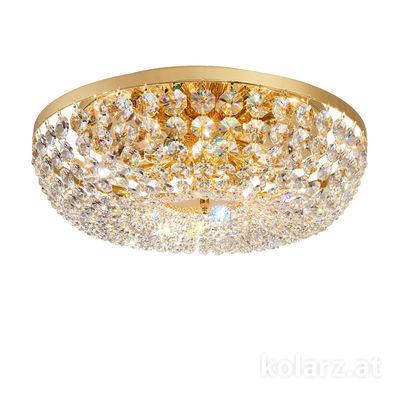 3161.18/50 24 Carat Gold, Ø50cm, Height 16cm, 8 lights, E14