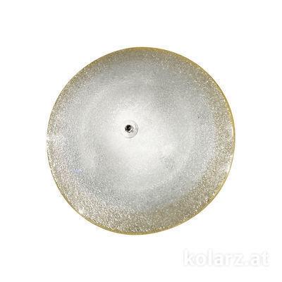 320.12.T Transparent, Ø42cm, Height 14cm, 2 lights, E27