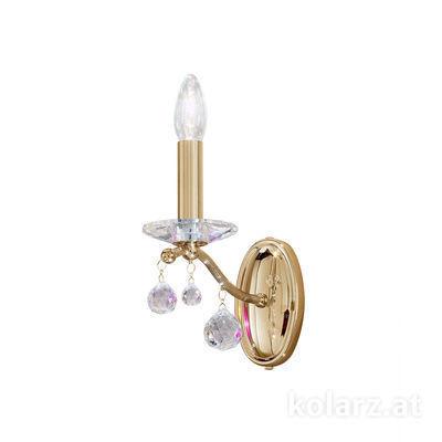 3234.61.3.KoT 24 Carat Gold, Width 12cm, Height 16cm, 1 light, E14