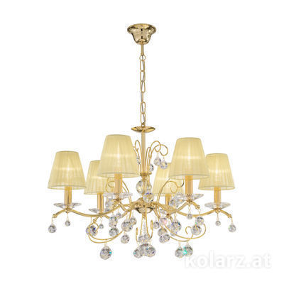 3234.86.3.KoT 24 Carat Gold, Ø66cm, Height 52cm, Min. height 72cm, Max. height 105cm, 6 lights, E14