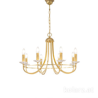 330.88.8C Engl. Brass, Ø76cm, Height 50cm, Min. height 71cm, Max. height 116cm, 8 lights, E14