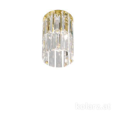 344.11M.3 24 Carat Gold, Ø12cm, Height 20cm, 1 light, G9
