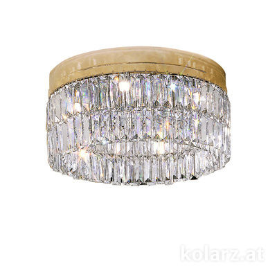 344.16.3 24 Carat Gold, Ø45cm, Height 20cm, 6 lights, G9
