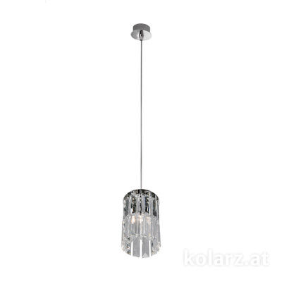 344.31M.5 Chrome, Ø12cm, Max. height 85cm, 1 light, G9