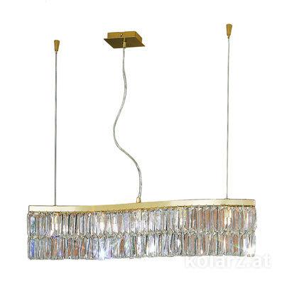 344.85.3 STRASS VOLL 24 Carat Gold, Length 80cm, Height 46cm, Min. height 51cm, Max. height 250cm, 5 lights, G9