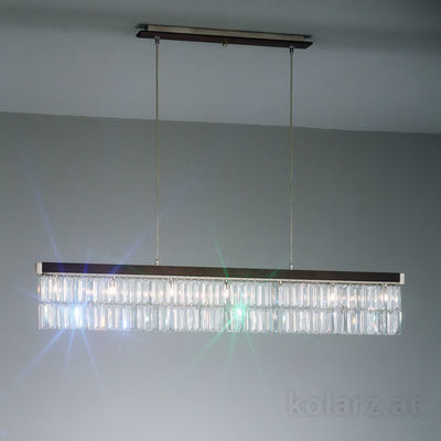 369.87.W Wenge, Width 120cm, Height 22cm, Min. height 29cm, Max. height 250cm, 7 lights, G9