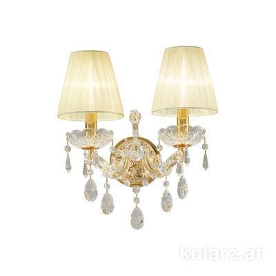 3844.62.3.SpT 24 Carat Gold, Width 28cm, Height 24cm, 2 lights, E14