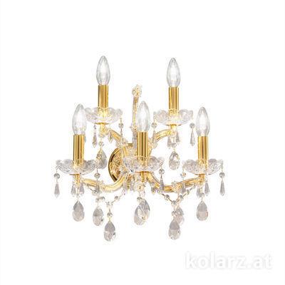 3844.63+2.3.SpT 24 Carat Gold, Width 40cm, Height 37cm, 5 lights, E14