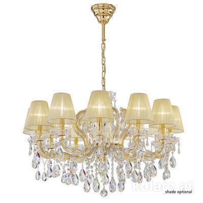 3844.812.3.SpT 24 Carat Gold, Ø90cm, Height 56cm, Min. height 81cm, Max. height 111cm, 12 lights, E14