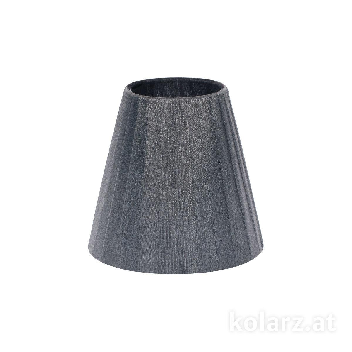 Lampshade shade organza organza grey 14cm height 13cm e14 5000 e14 s01 or gr f1g aloadofball Choice Image