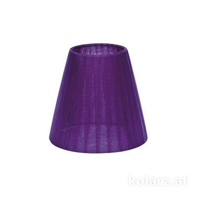 5000.E14.S01.or.V Organza, Violet, Ø14cm, Height 13cm, E14