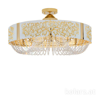 5020.11232.130/al30 24 Carat Gold, Ø80cm, Height 45cm, 12 lights, G9