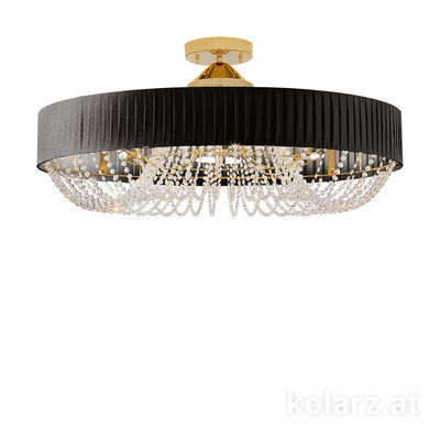 5020.11232.130/po90 24 Carat Gold, Ø80cm, Height 45cm, 12 lights, G9
