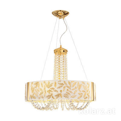 5020.30630.130/al30 24 Carat Gold, Ø60cm, Height 60cm, Min. height 80cm, Max. height 160cm, 6 lights, G9