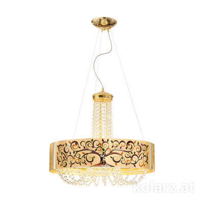 5020.30630.130/al99 24 Carat Gold, Ø60cm, Height 60cm, Min. height 80cm, Max. height 160cm, 6 lights, G9