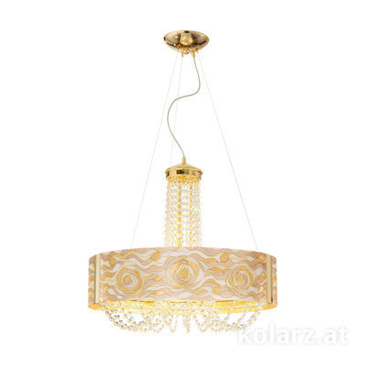 5020.30630.130/aq21 24 Carat Gold, Ø60cm, Height 60cm, Min. height 80cm, Max. height 160cm, 6 lights, G9